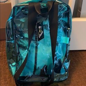 art class Accessories - See through backpack with drawstring bag
